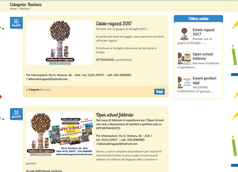 realizzazione sito web per scuola dell'infanzia