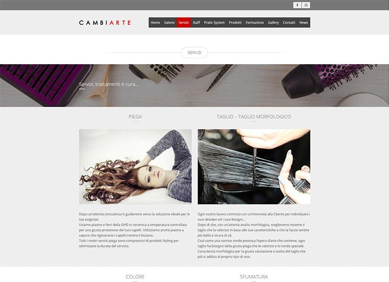 realizzazione sito web per per salone di parrucchieri