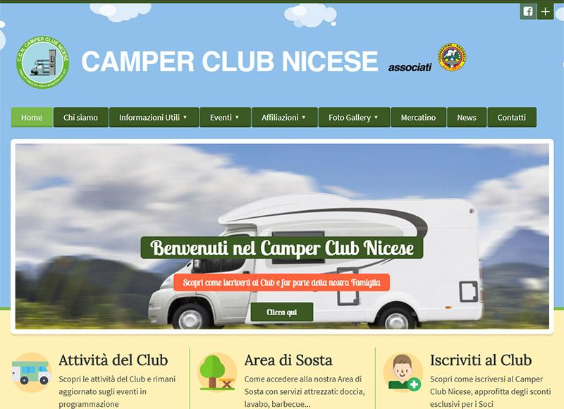 realizzazione sito web per associazione di camperisti