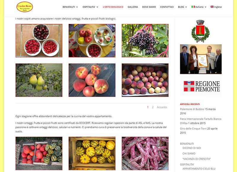 realizzazione sito web per agriturismo