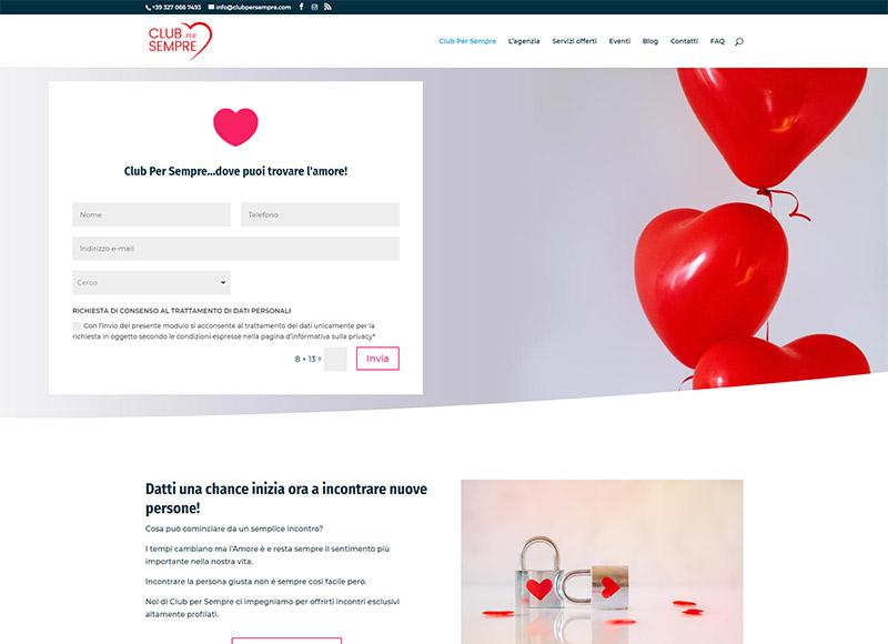 Realizzazione sito web per agenzia matrimoniale