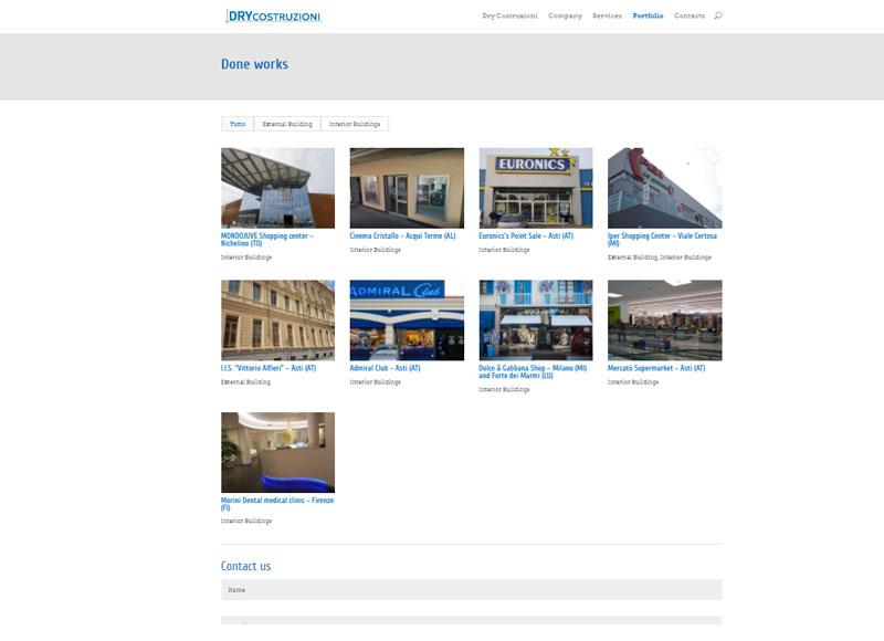 realizzazione sito web per azienda di edilizia