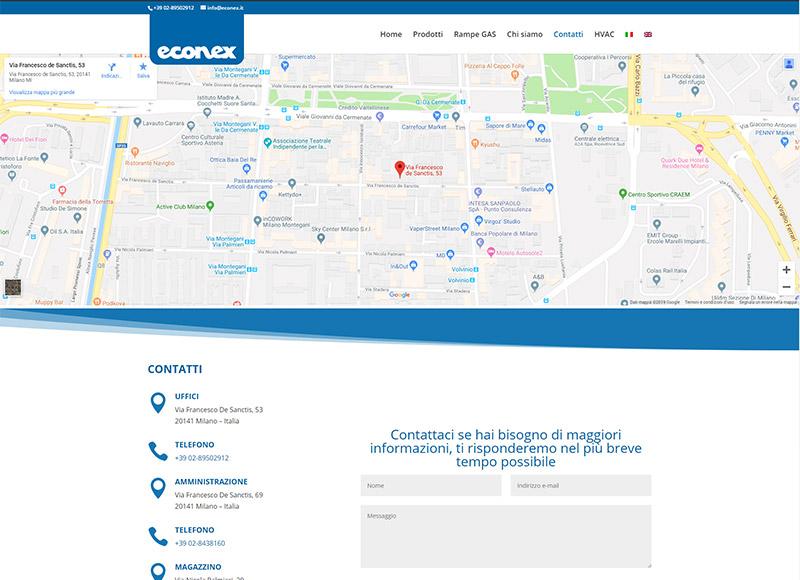 Realizzazione sito web per azienda specializzata in componenti per sistemi di combustione a gas