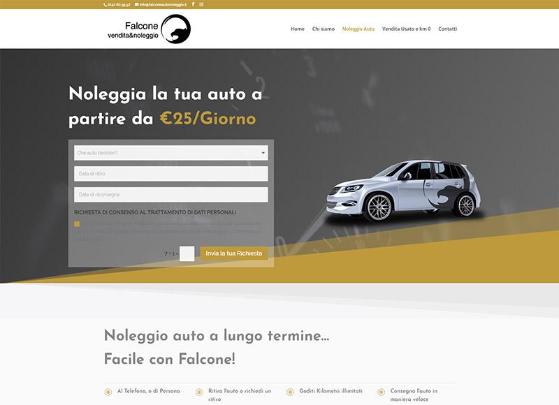 Realizzazione sito web per fornitore di noleggio e vendita auto usate