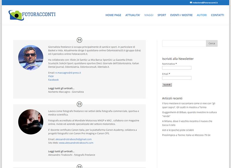 Consulente SEO e Web Marketing realizzazione blog fotogiornalistico