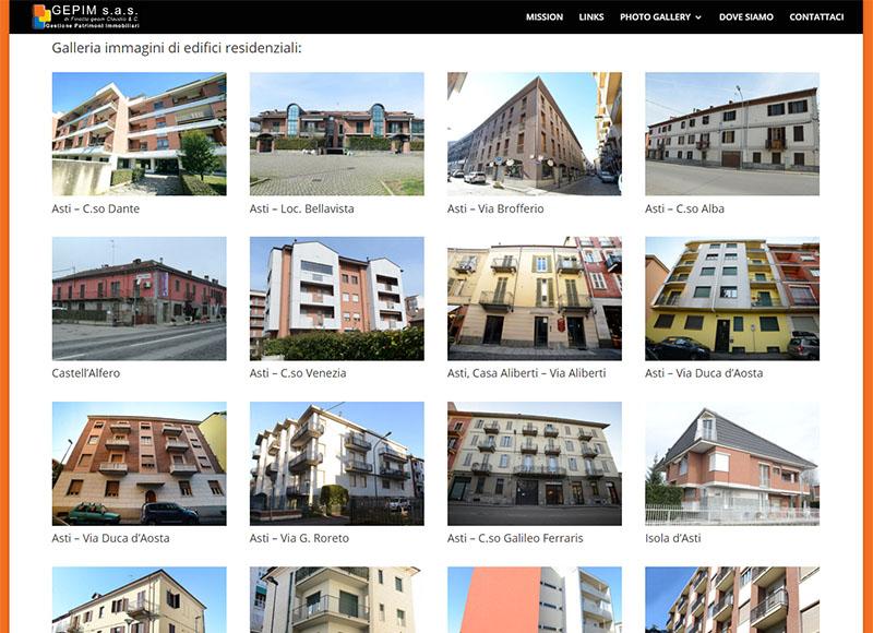 realizzazione sito web per società gestioni immobiliari