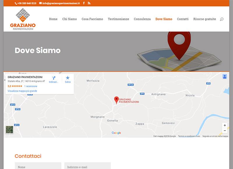 realizzazione sito web per azienda esperta in pavimentazione estere e opere complementari.