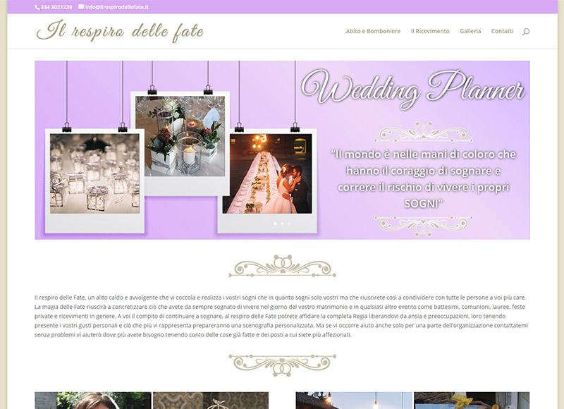 realizzazione sito web per wedding planner