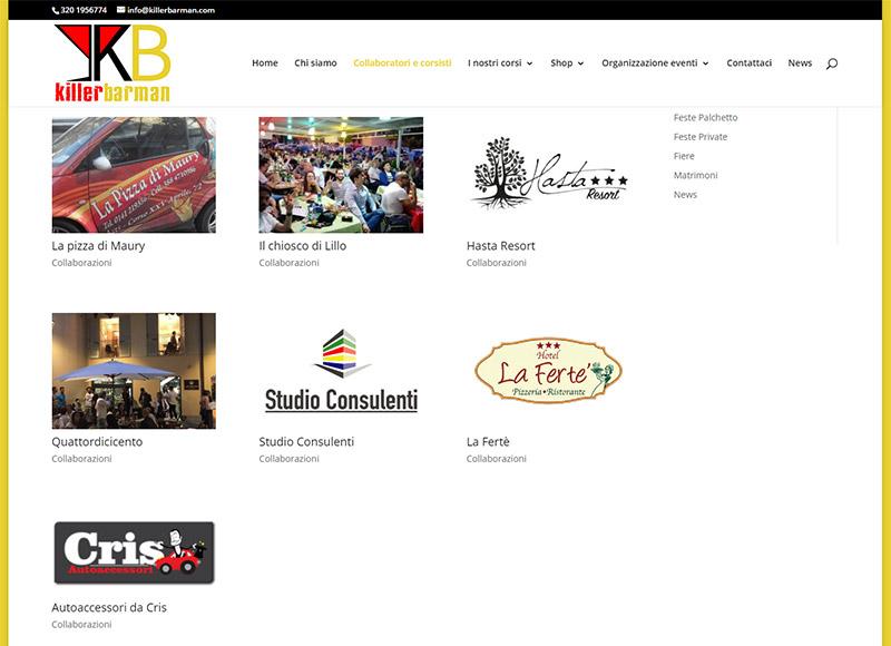 realizzazione sito web per azienda che organizza corsi di barman