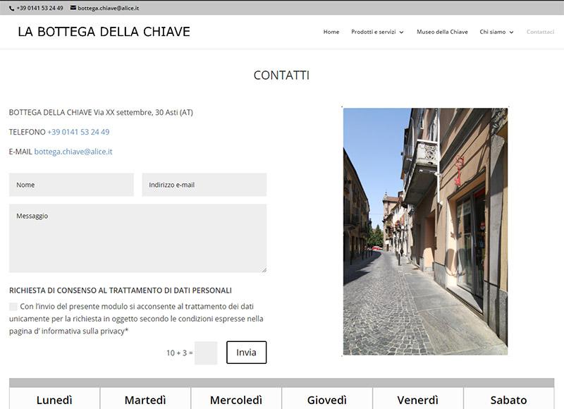realizzazione sito web specializzato nella duplicazione di chiavi e telecomandi