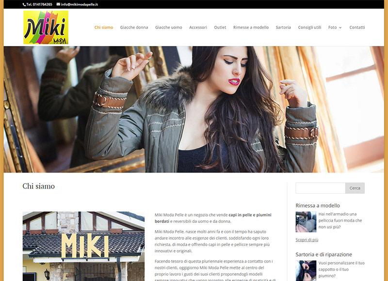 realizzazione sito we per negozio che vende capi in pelle e piumini