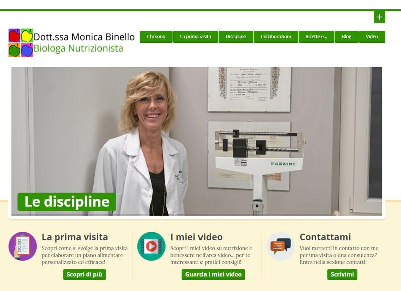 realizzazione sito web per biologa nutrizionista