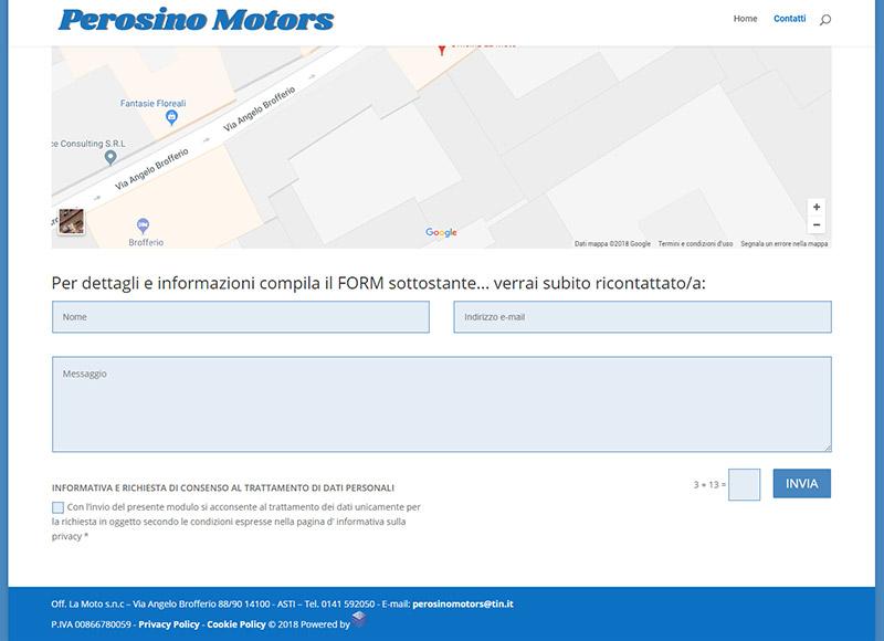 realizzazione sito web per concessionaria