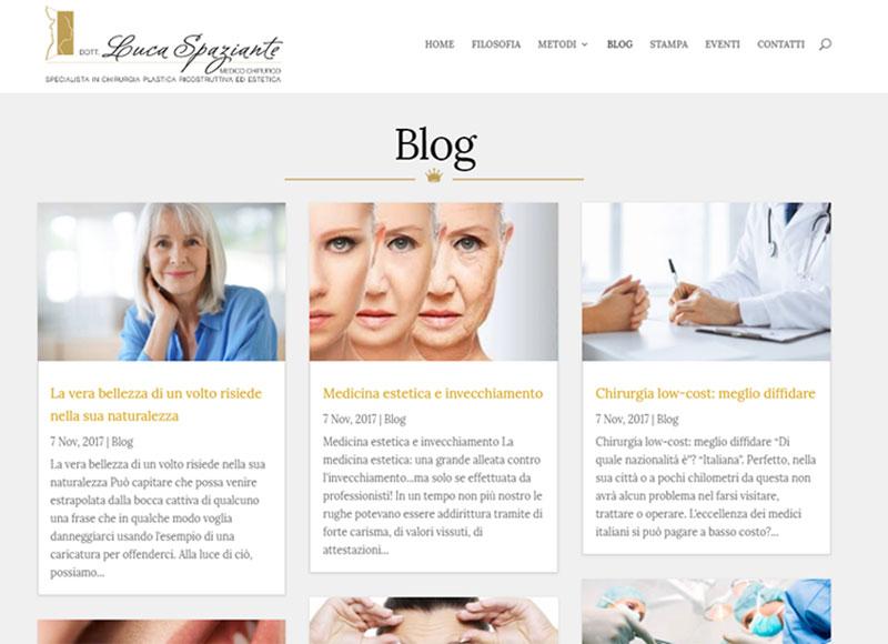 realizzazione sito web per medico chirurgo specialista in chirurgia plastica, ricostruttiva ed estetica