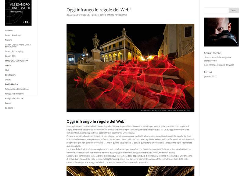 realizzazione blog per fotografo freelance