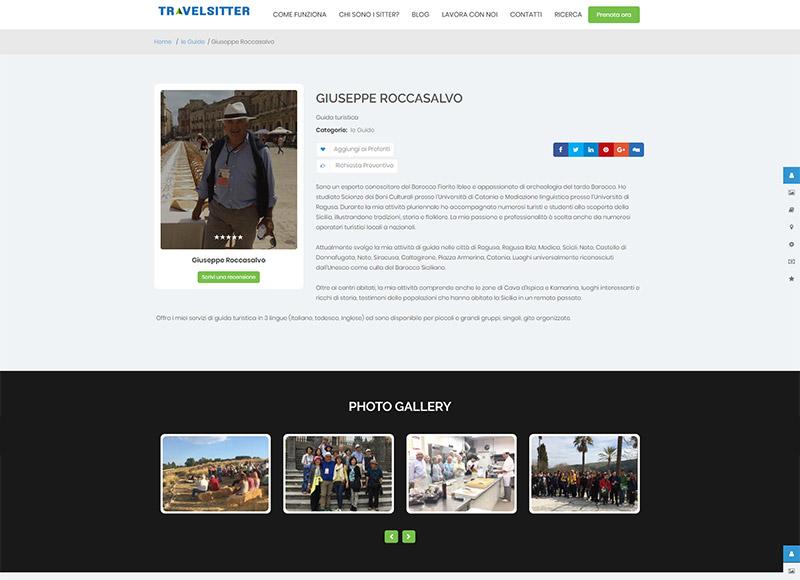 Realizzazione sito web per accompagnatore turistico