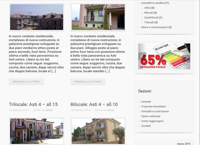 realizzazione sito web per azienda di costruzioni