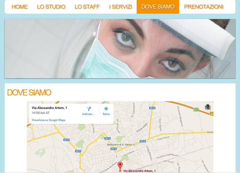 realizzazione sito web per studio odontoiatrico