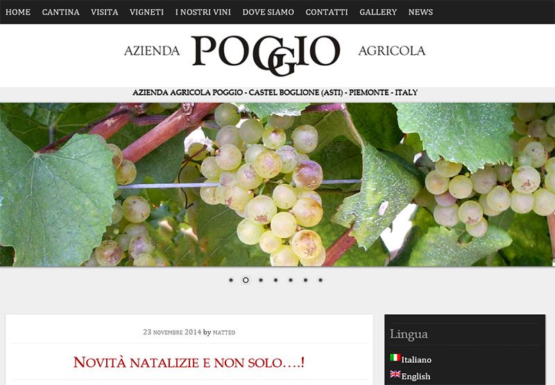 realizzazione sito web per azienda vitivinicola