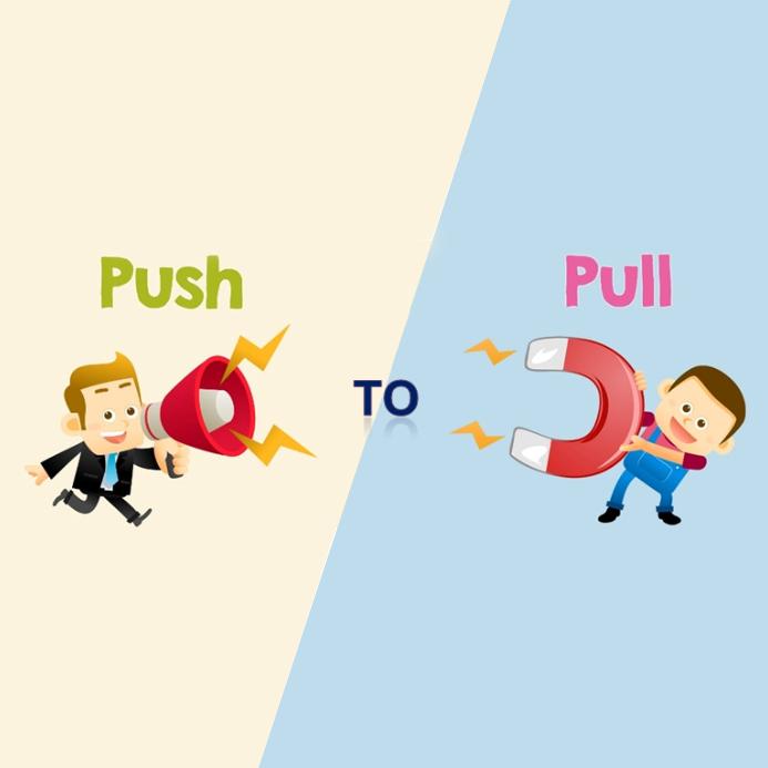 Push vs Pull? Strategie di marketing a confronto
