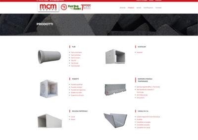 Realizzazione sito web per azienda specializzata nella produzione di manufatti di conglomerato cementizio